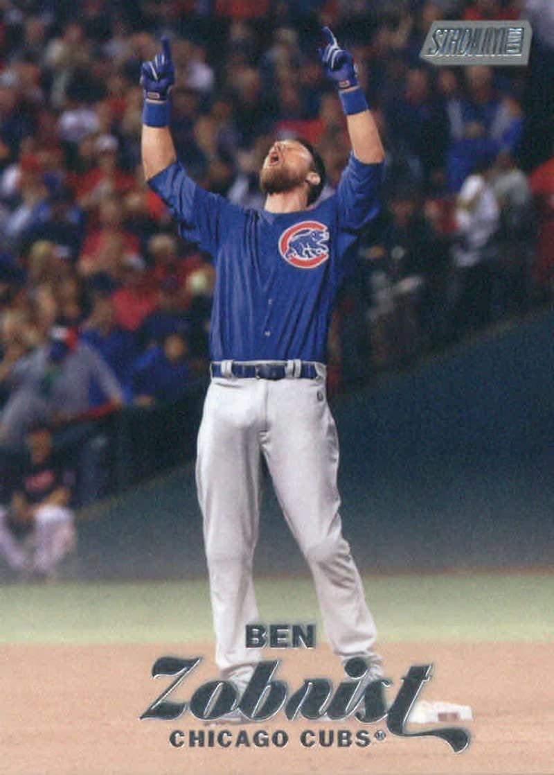 2017 Topps Stadium Club #14 Ben Zobrist Chicago Cubs Baseball Card