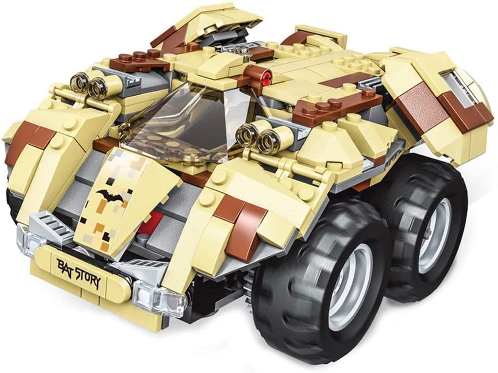 TCAR Building Blocks Assembling Bat Chariot Electric Remote Control Car Model Toy Assembling Robot Children Birthday Intelligent Development Toy