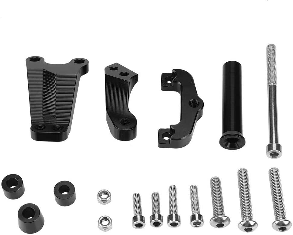 Hlyjoon Motorbike Stabilizer Mounting Bracket Set Motorcycle CNC Steering Damper Bracket Stabilizer Mount Kit for ER-6N 2012-2015