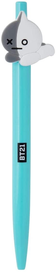 BT21 Official Merchandise by Line Friends - VAN Character Gel Pen, Black Ink 0.7mm, Grey/Teal