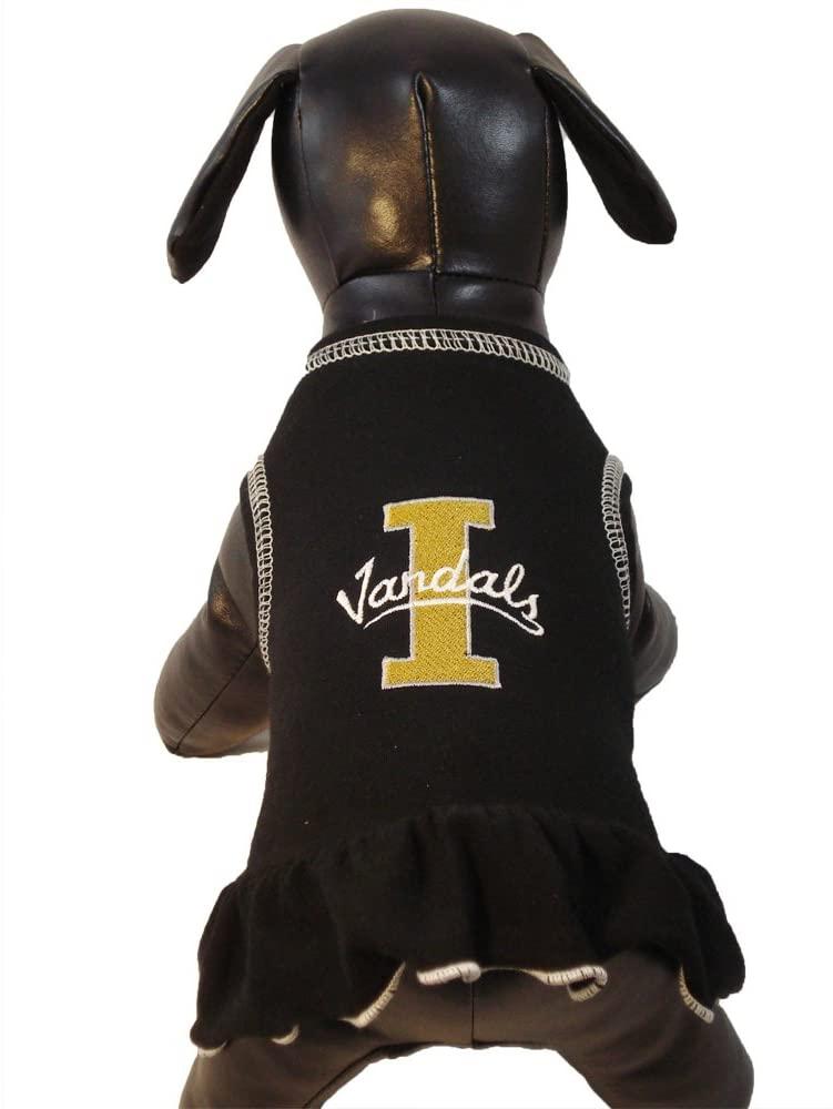 NCAA Idaho Vandals Cheerleader Dog Dress (Team Color, Large)
