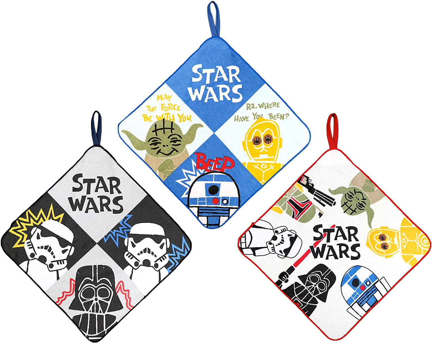 JP PRODUCTS Star Wars Loop Washcloth Face Towel for Kids