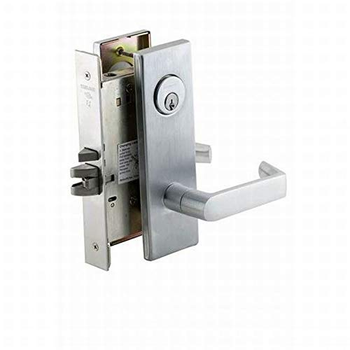 Schlage Commercial L9080P06N626 Storeroom Mortise Lock C Keyway with 06 Lever and N Escutcheon Satin Chrome Finish