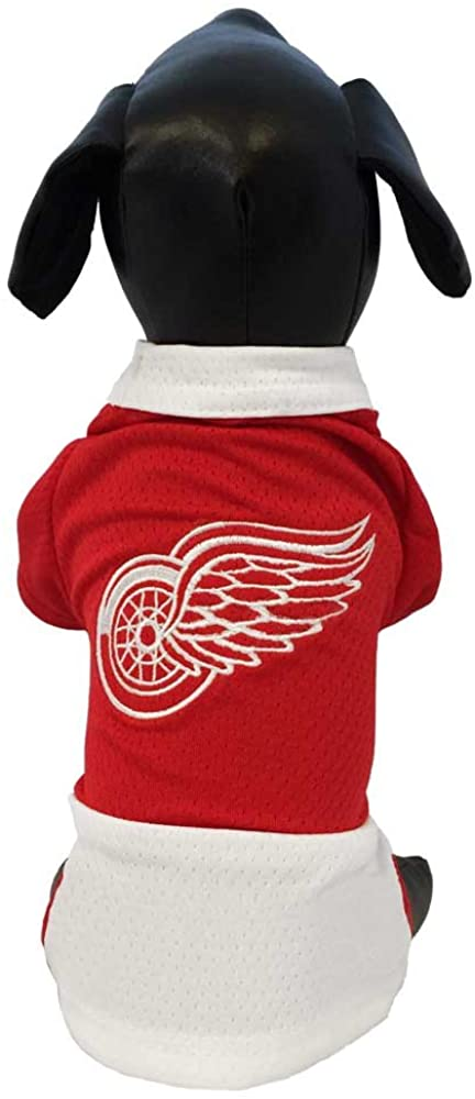 All Star Dogs NHL Detroit Red Wings Athletic Mesh Dog Jersey, Tiny, Red
