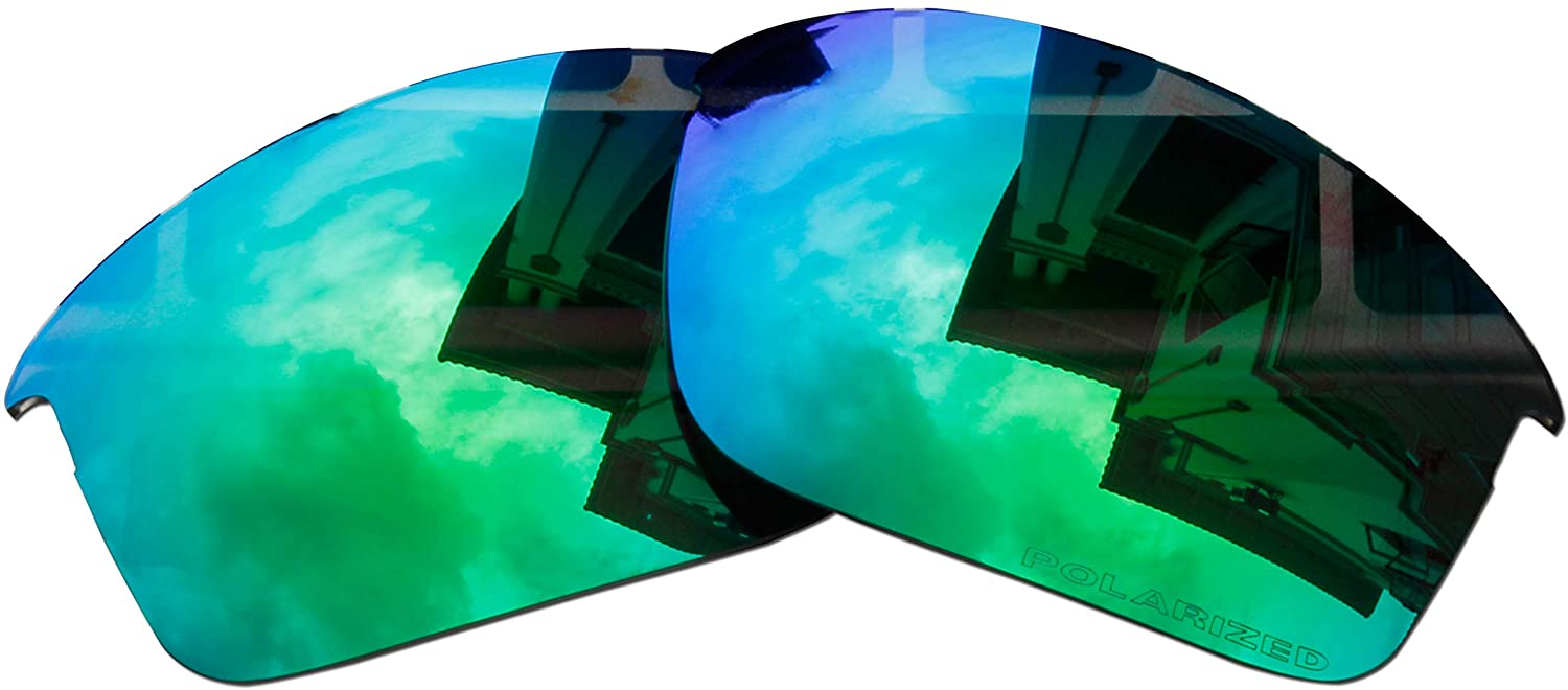 Polarized Replacement Lenses for Oakley Bottle Rocket Sunglasses - 5 Options Available (Emerald Green Mirror Coatings)