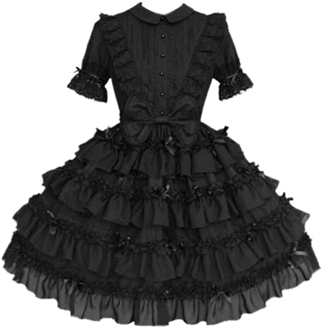 I-Youth Womens Bowknot Classic Sweet Lolita Dress Prom Dress