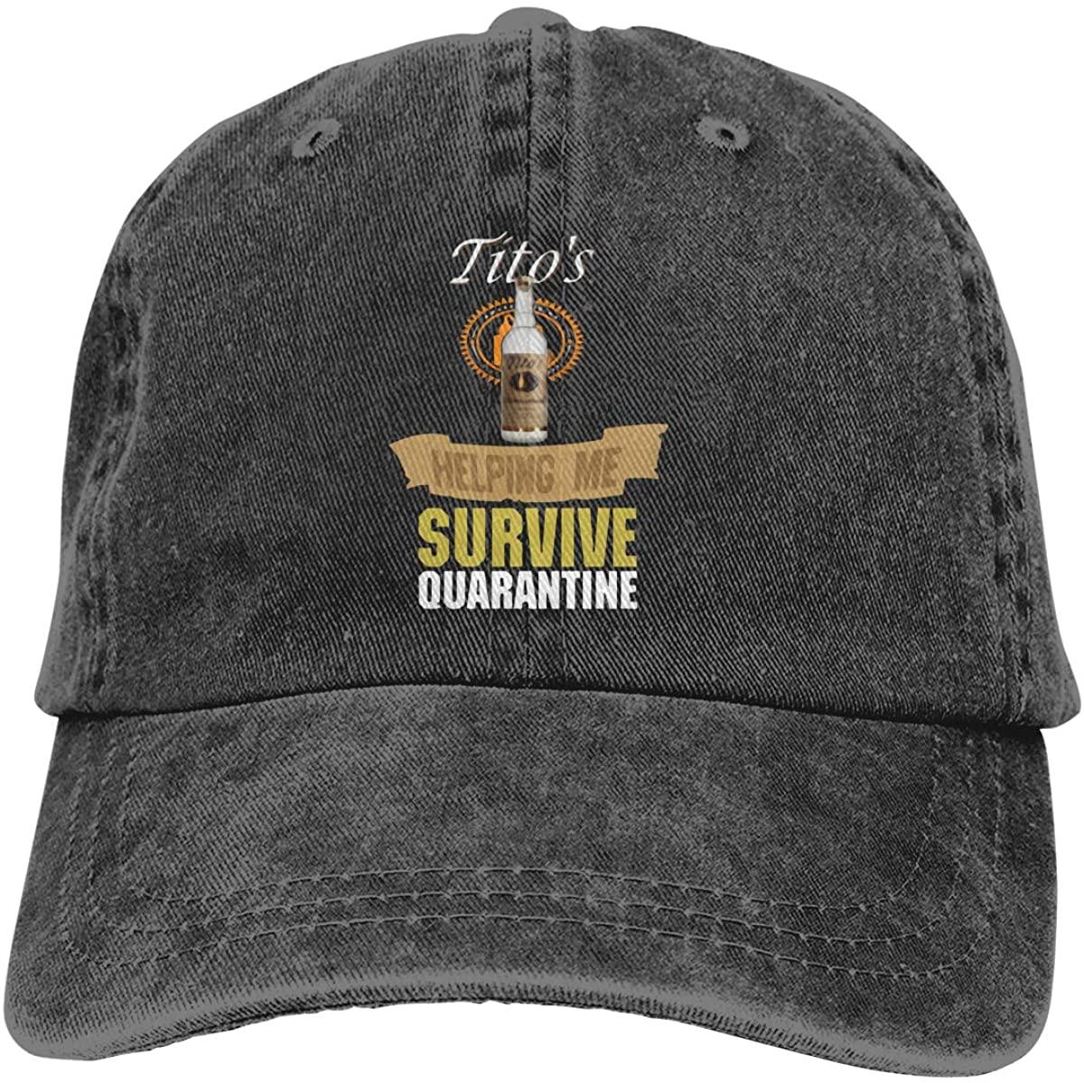 Kelo Tito'S Vodka Adjustable Unisex Hat Baseball Caps Black
