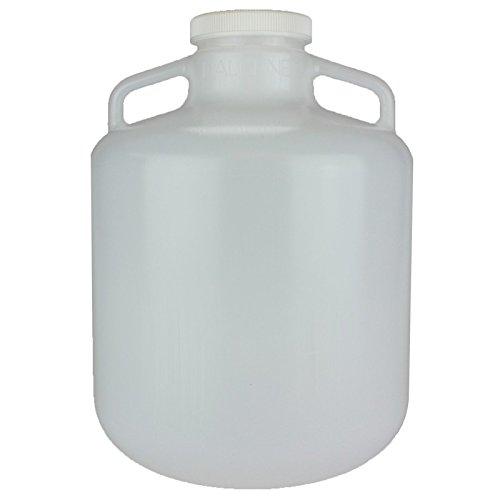 Nalge Nunc Carboys with Handles, Wide Mouth, Low-Density Polyethylene, NALGENE 2234-0030,