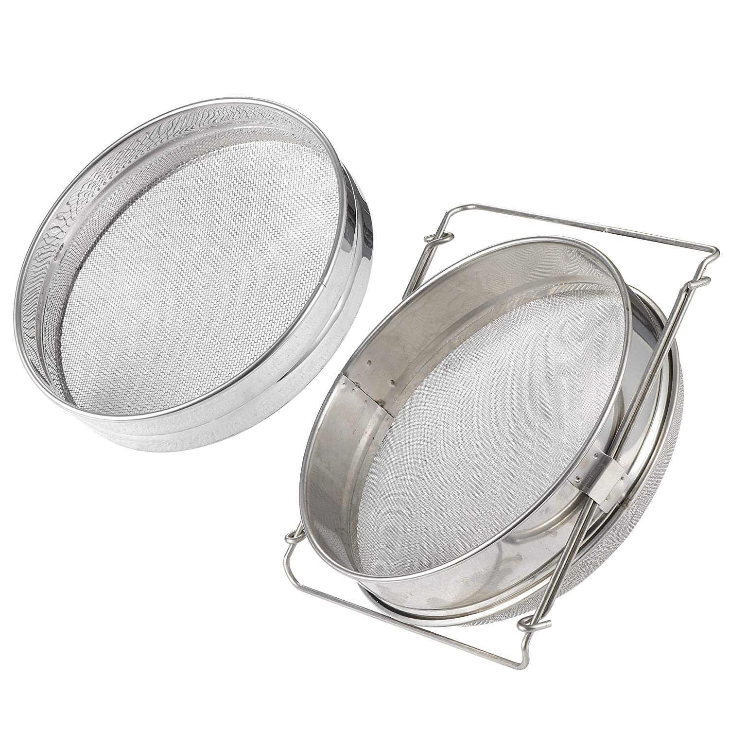 Stainless Steel Honey Strainer Double Sieve   Bee Keeping Equipment Filter