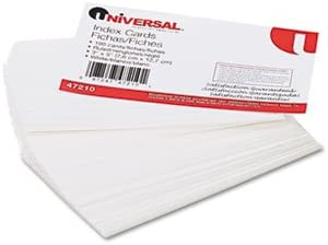 UNIVERSAL Ruled Index Cards, 3 x 5, White, 100 per Pack (Case of 48)
