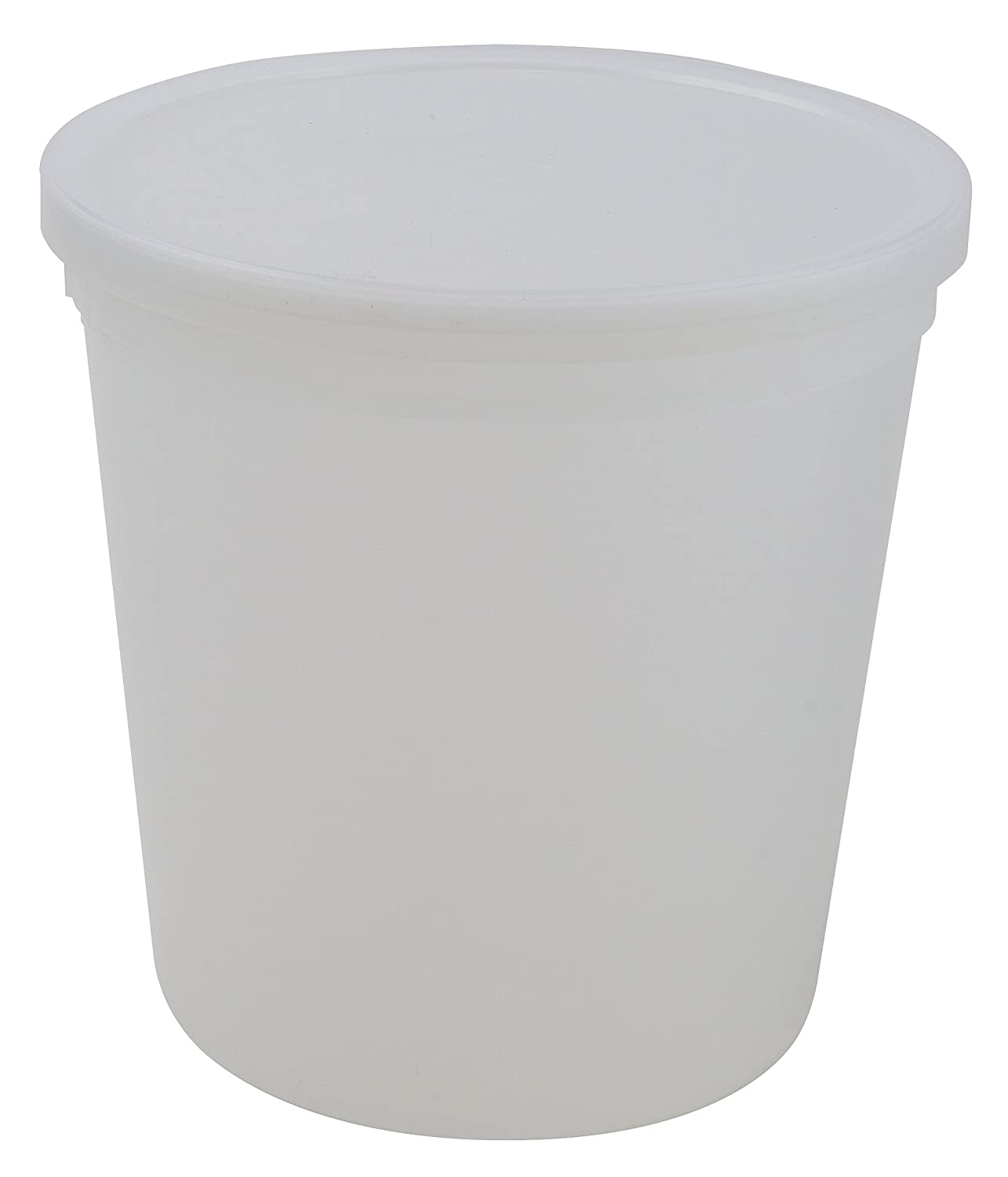 Dynalon 453555 Natural Cylindrical Lab Storage Container with Snap On Lid, 83oz Capacity (Case of 25)