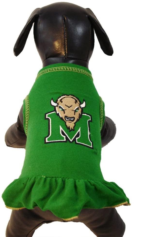 NCAA Marshall Thundering Herd Cheerleader Dog Dress (Team Color, XX-Large)
