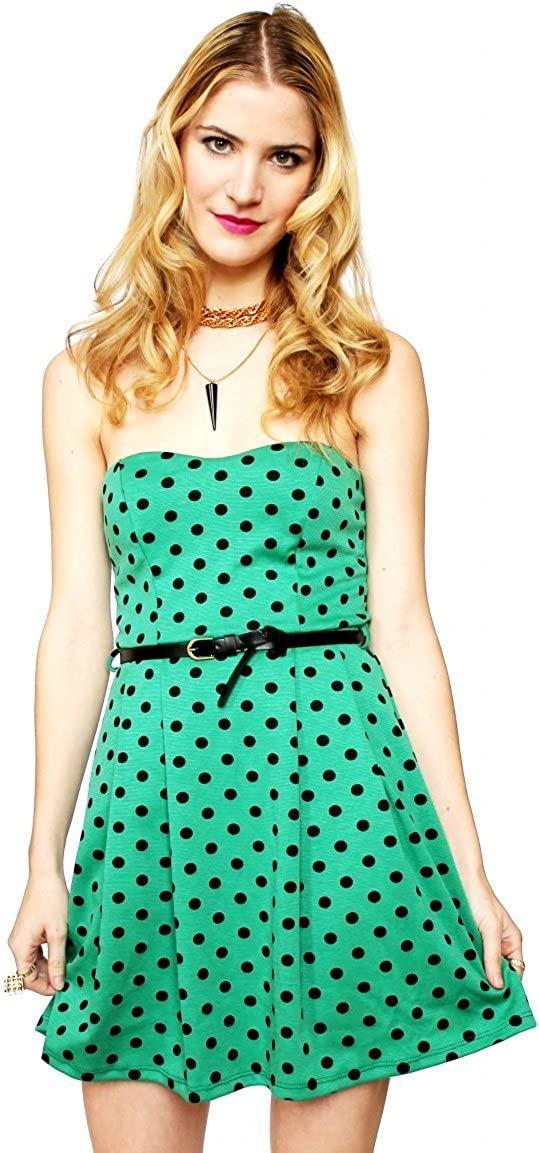 SuperModelGear Women's Anja Polka Dot Sweetheart Dress