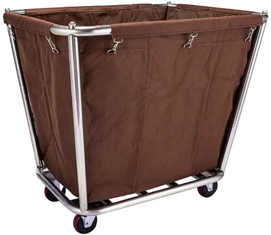 HTLLT Storage Rack Serving Cart Medical Cart Tool Mobile Linen Car for Hotel/Lobby, Detachable Stainless Steel Storage Cart with Universal Wheel, Can Load 100Kg