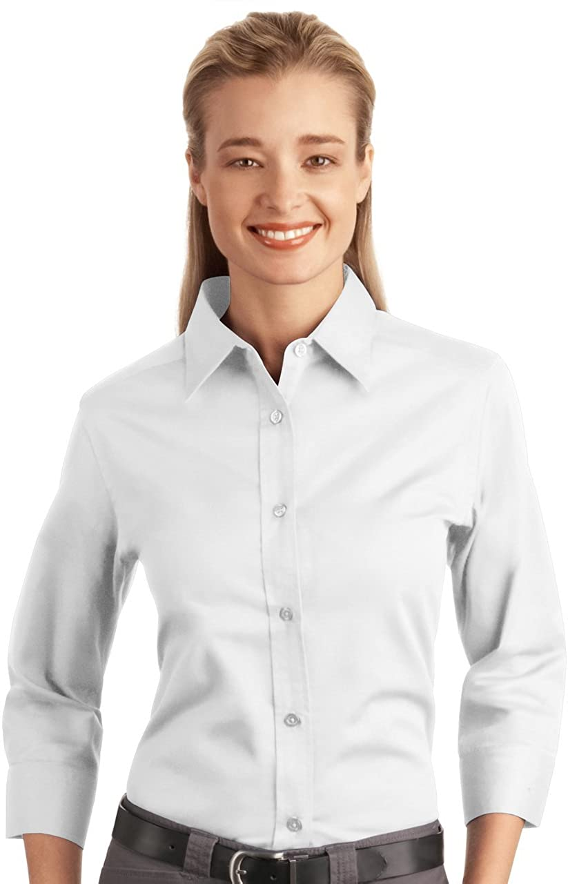 Port Authority 3/4 Sleeve Shirt (L612) White, 2XL