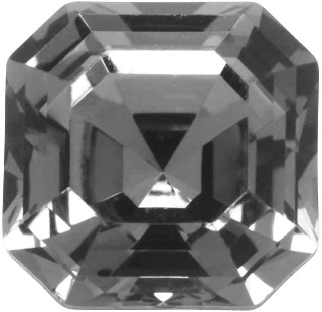SWAROVSKI Crystal, 4480 Imperial Fancy Stone 10mm, 1 Piece, Crystal Silver Night