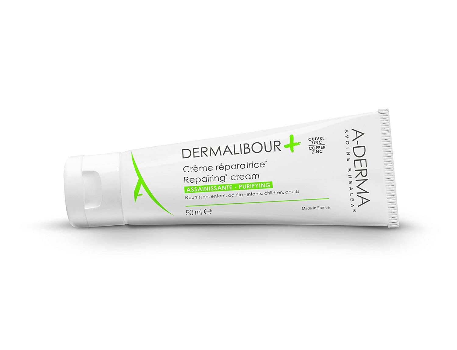 A-derma Dermalibour Face & Body Emolliant Cream 50ml Rash & Purifies Skin Care the Skin