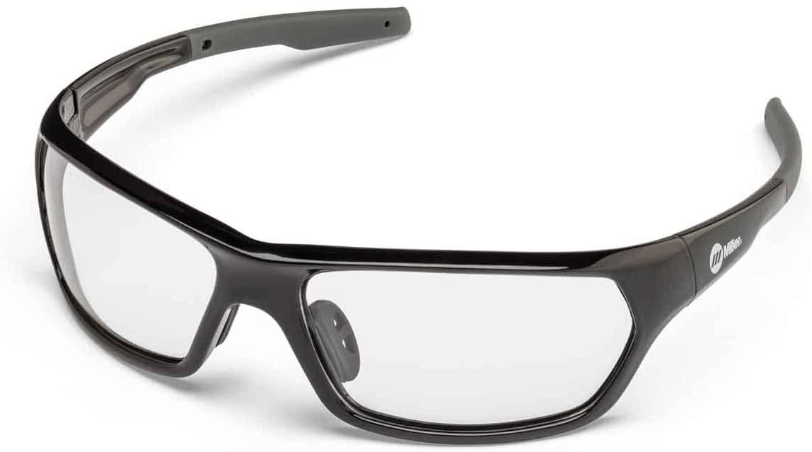 Miller 272201 Slag Safety Glasses Clear Lens, Black Frame