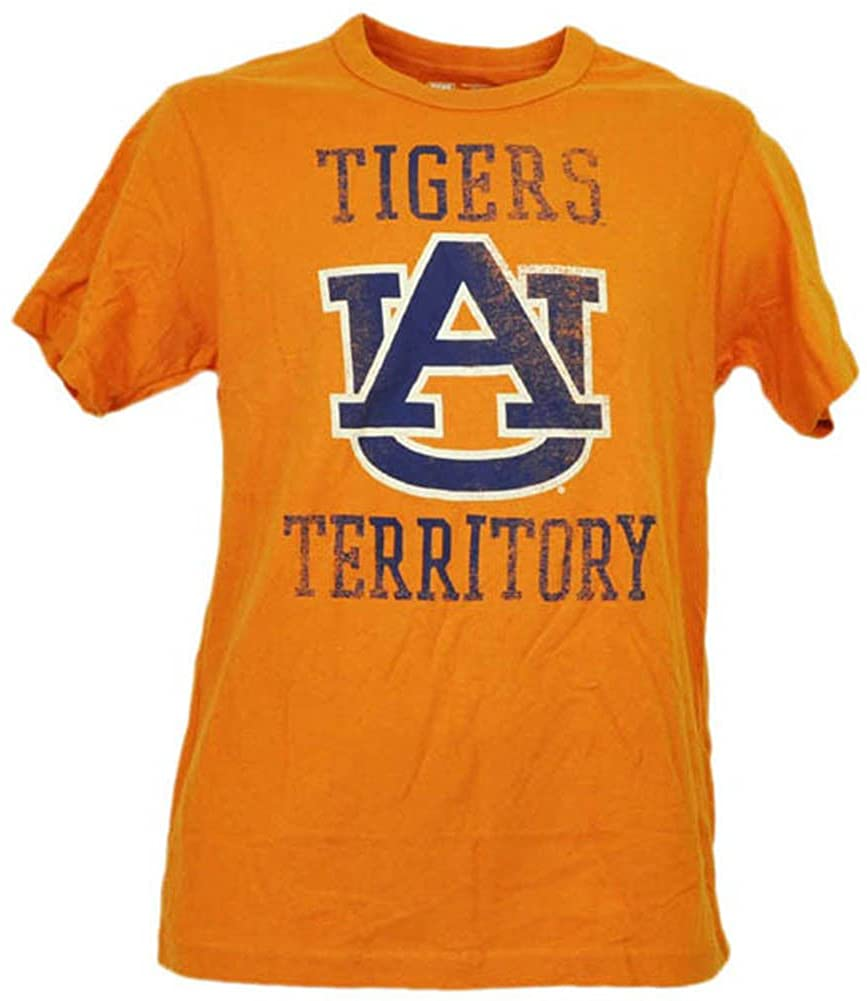 Auburn Tigers Destressed Logo Adult Small Short Sleeve Team Colors
