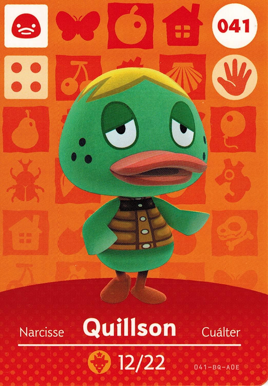 Animal Crossing Happy Home Designer Amiibo Card Quillson 041/100