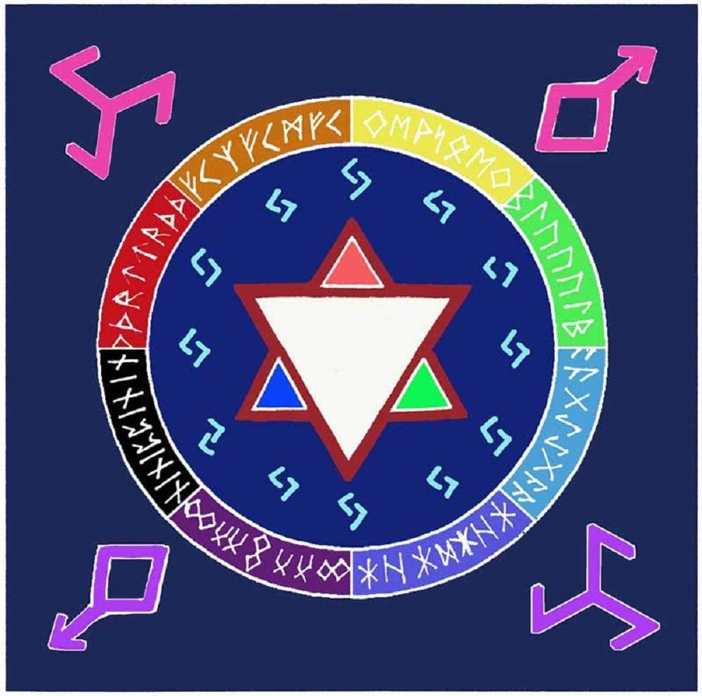 Fortune Telling Toys Altar Cloth Rune Awakening or scarve 36 x 36