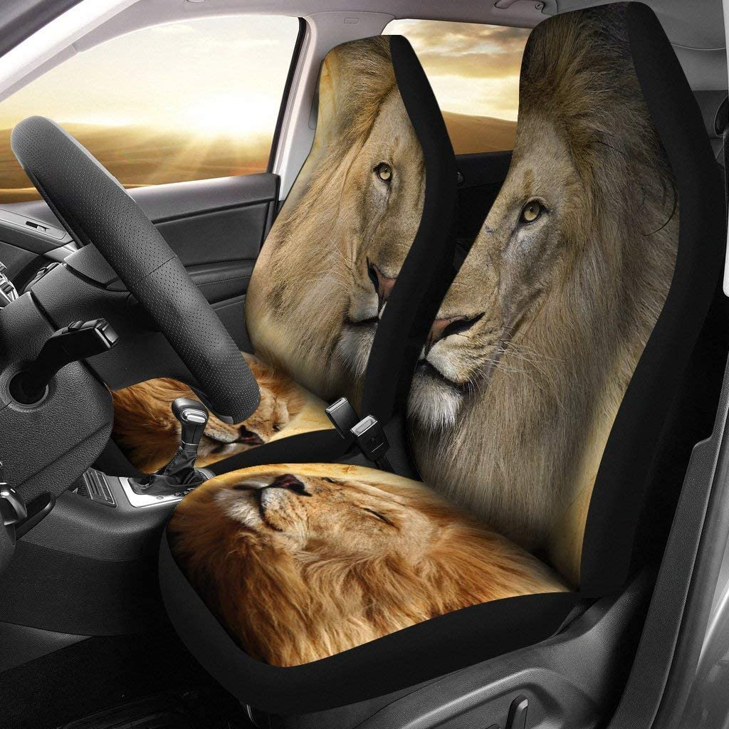 Great Breed Store Lion Print Car Seat Covers