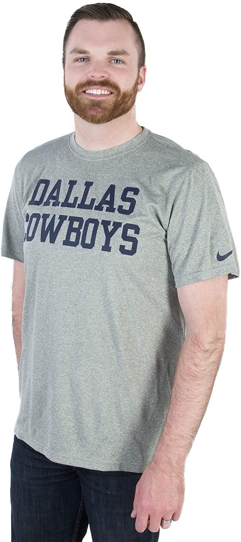 NFL Dallas Cowboys Mens Nike Legend Coaches T-Shirt, Small, Heather Gray