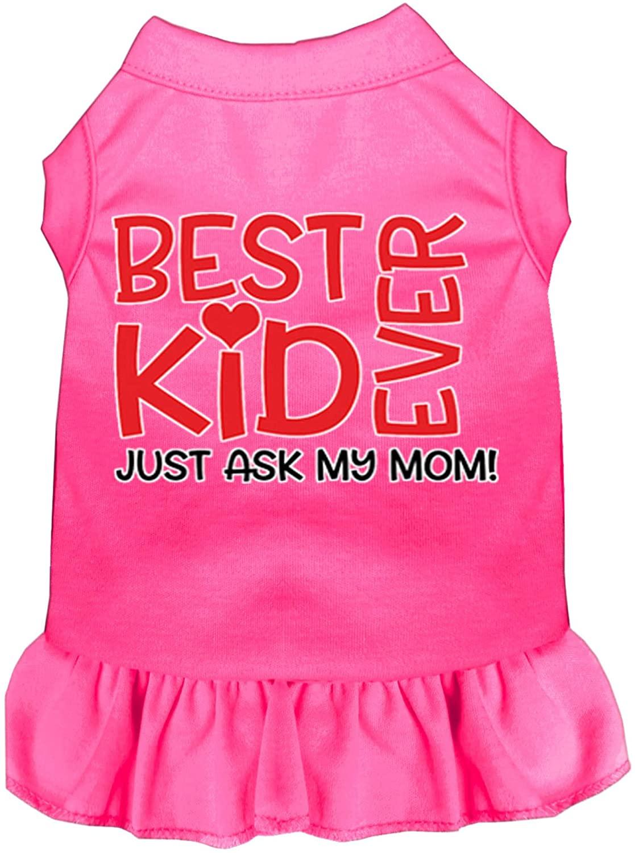 Mirage Pet Product Ask My Mom Screen Print Dog Dress Bright Pink XXL (18)