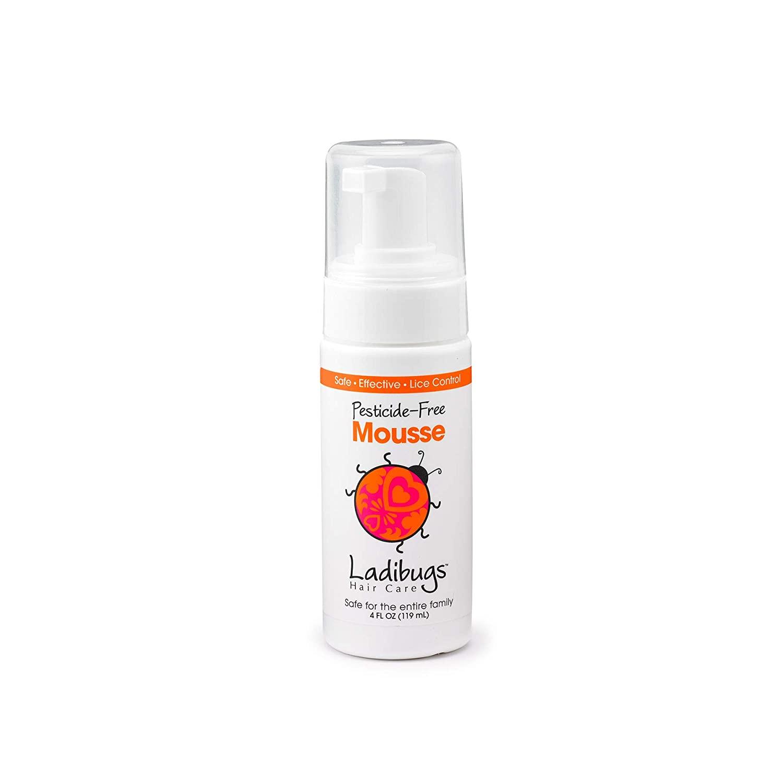 Ladibugs Lice Elimination Mousse 4oz | Nit & Egg Removal | Natural, Non-Toxic, Safe Treatment | Refill Pack.