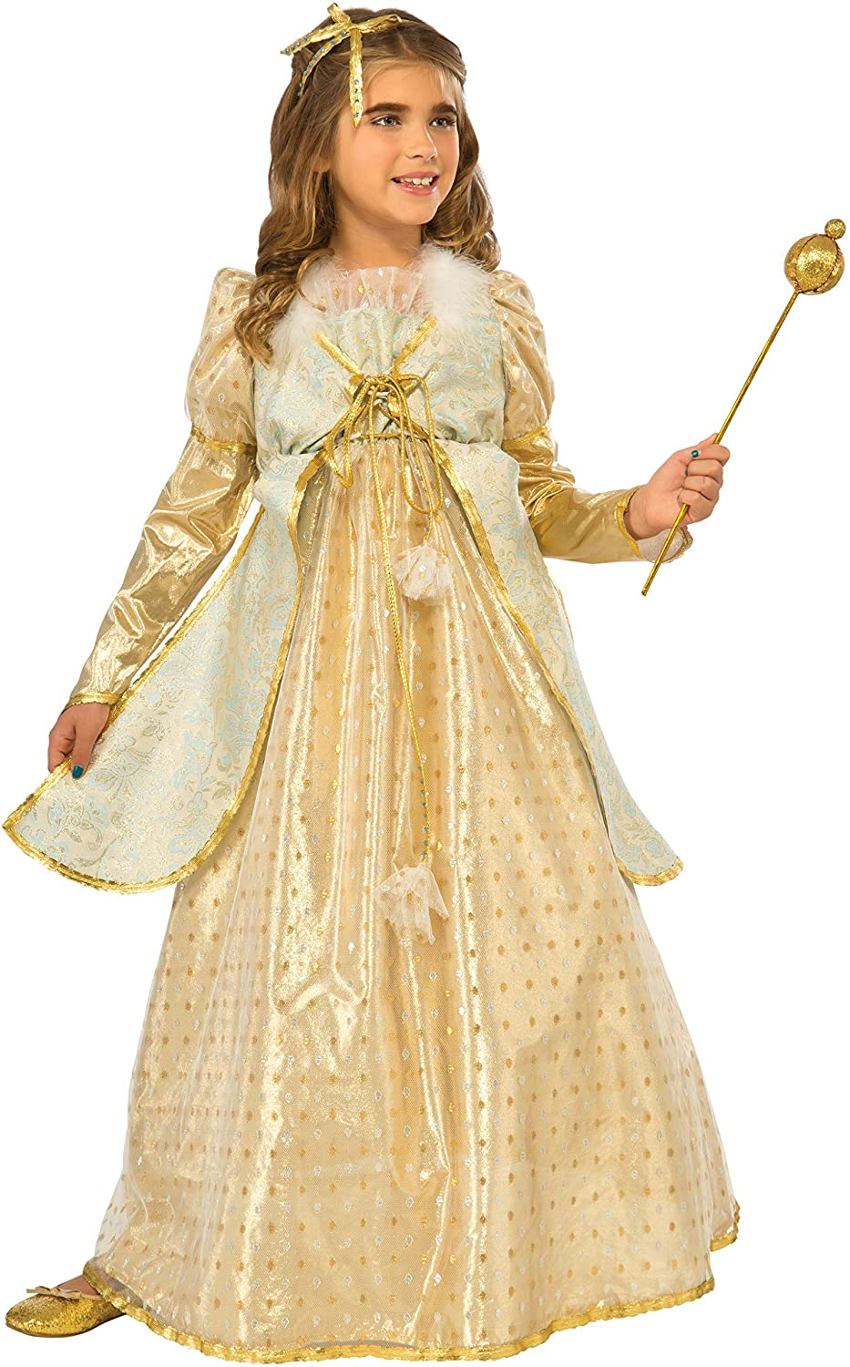 Rubies Costume Kids Golden Princess Costume, Large
