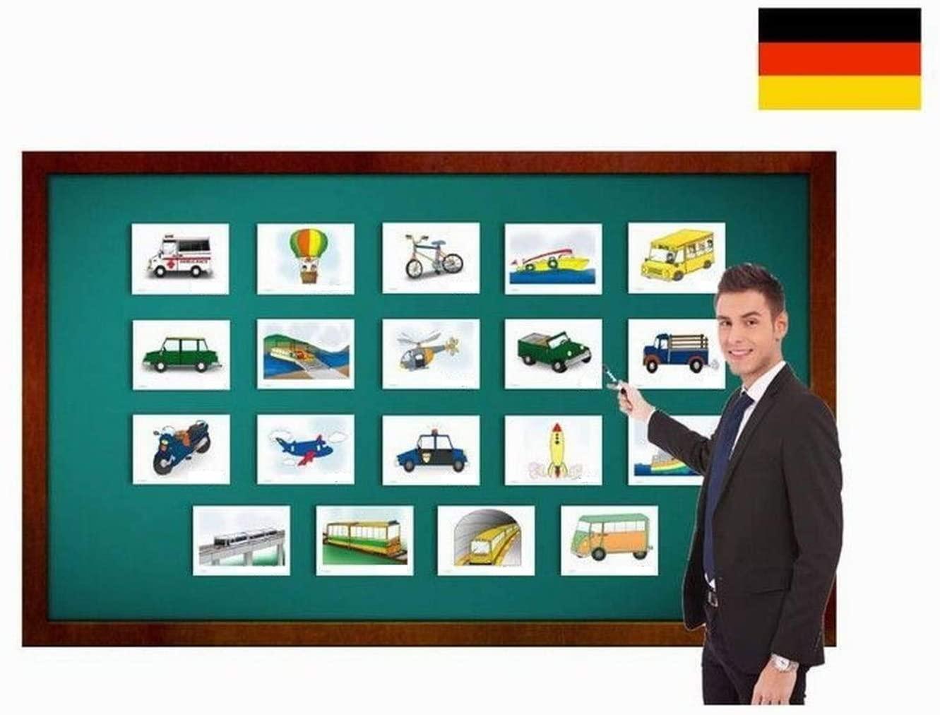 Transportation and Vehicle Flashcards - Bildkarten zur Sprachförderung - Transportmittel