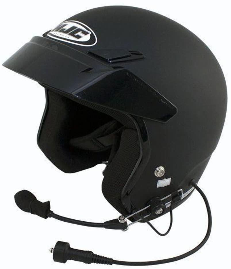 PCI HJC CS-5N Open Face Wired DOT Helmet - Flat Black X-Large