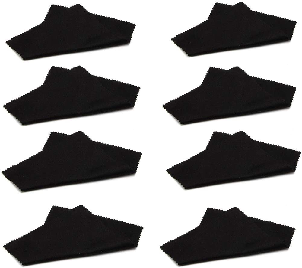 Teenidea Microfiber Cleaning Cloth for Eyeglasses, Lenses, Screens Etc. - 6X6 Inch,8pcs