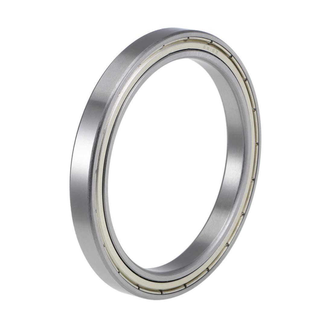 uxcell 6815ZZ Deep Groove Ball Bearings 75mm Inner Dia 95mm OD 10mm Bore Double Shielded Chrome Steel Z2