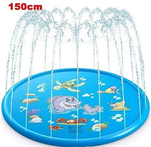 Wilbur Interesting Pattern Splash-Proof Mat, Swimming Pool Sprinkler Pool Toys Kids Pool Swimming Pool Kids Outdoor Children Summer Outdoor Splash-Proof Mat, Super (Color : 150cm)