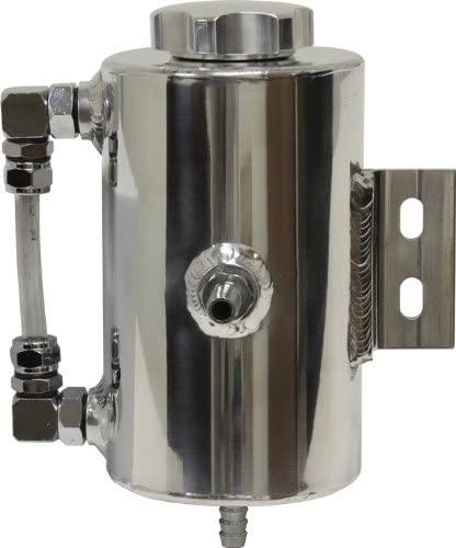 Universal Aluminum Power Steering Overflow Tank - Polished