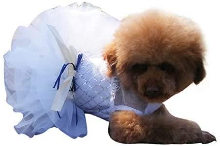 NBKing Lace Bow Dog Dress for Cat Pet Dog Skirt Dog Wedding Dress Apparel Summer Dog Shirt Clothes