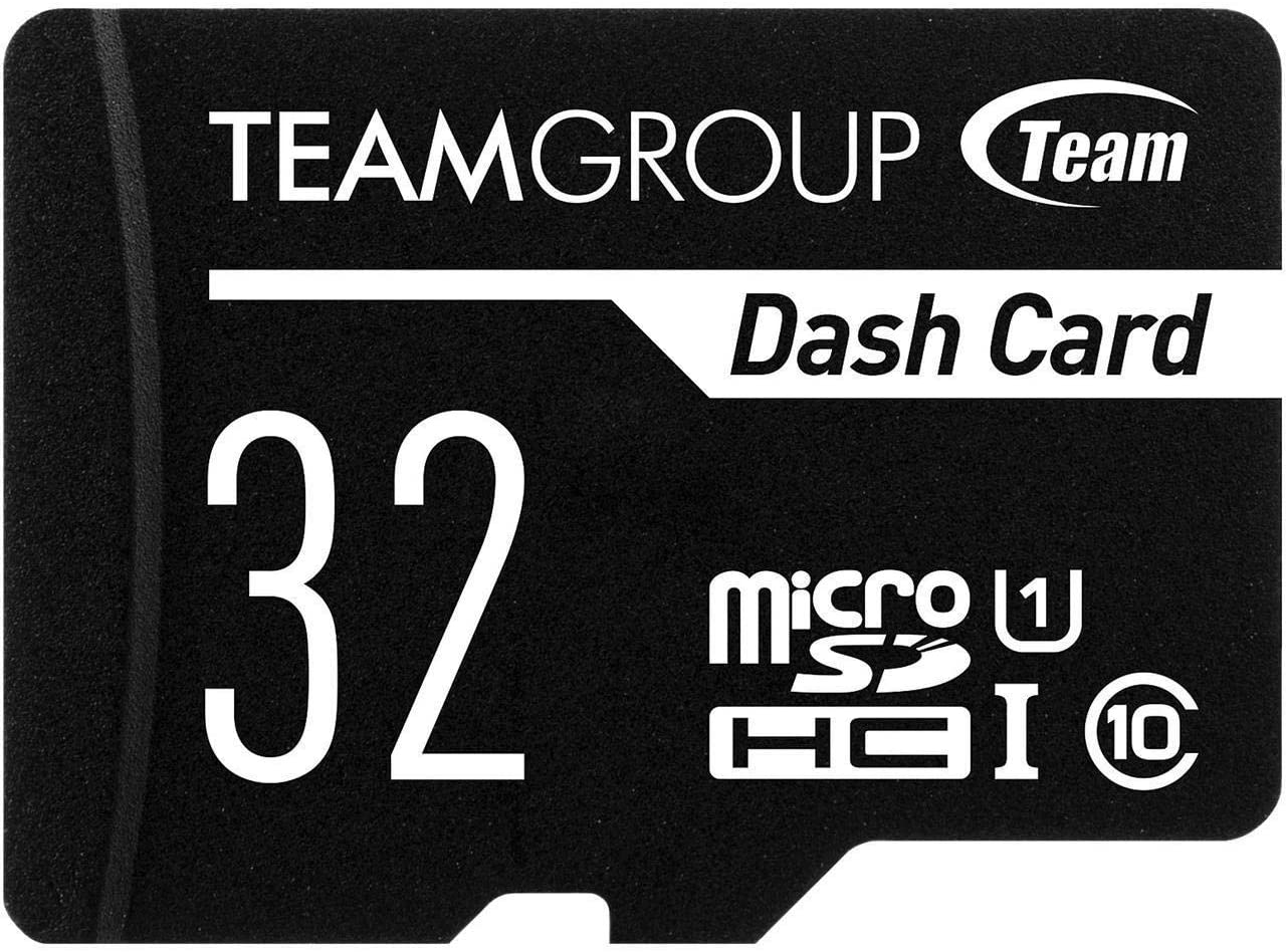 TEAMGROUP Dash Card 32GB for Dash Cam MicroSDHC UHS-I U1 High Compatibility Flash Memory Card with Adapter for Outdoor, Sports, Full HD Shooting