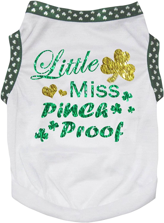 Petitebella Puppy Clothes Dog Dress Little Miss Pinch Proof White T-Shirt
