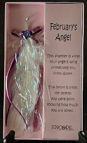 Encore - an Angel's Touch - Inspirational Gift - Feather Charm - February