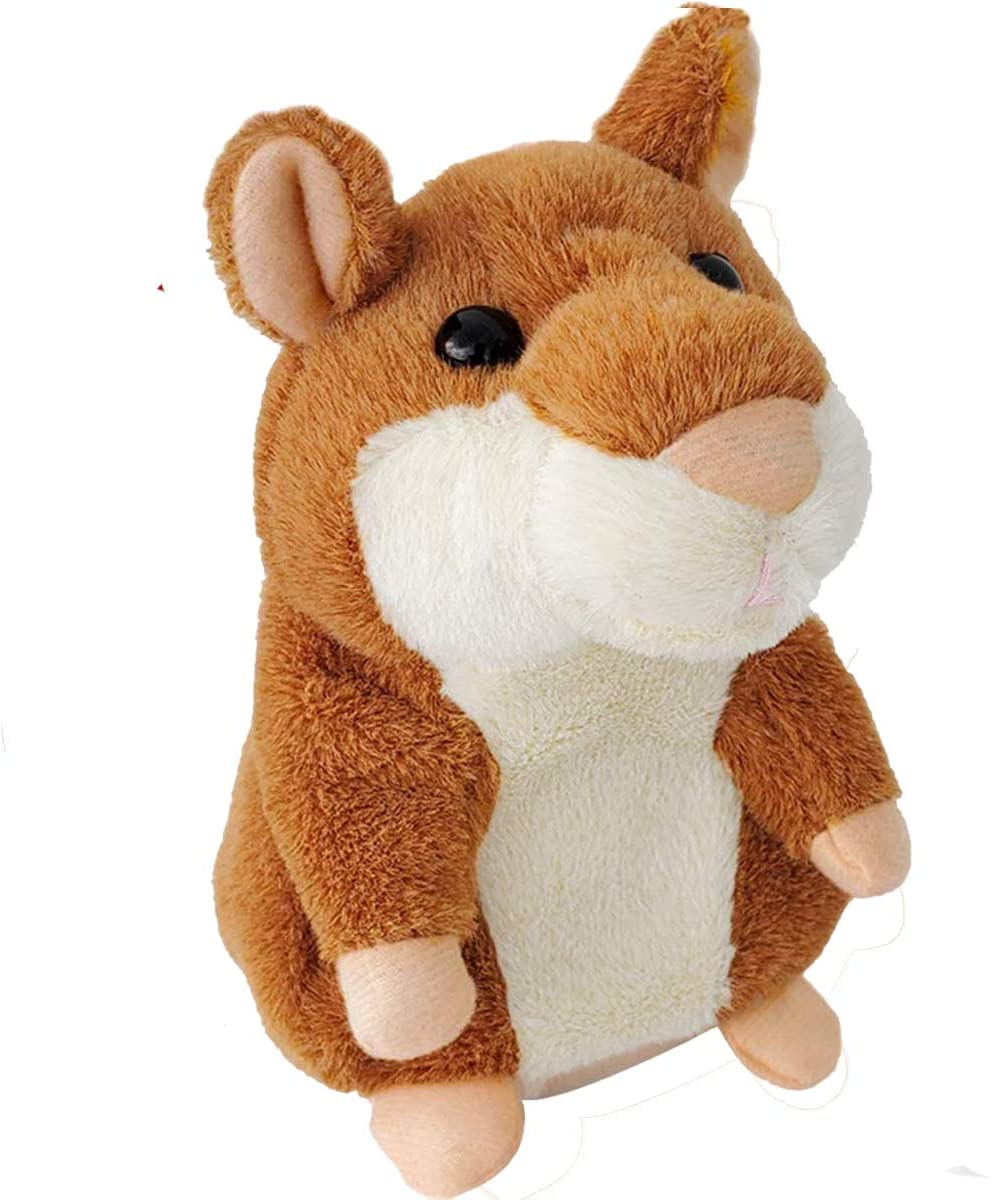 Tockrop Talking Hamster Mouse Plush Interactive Toy Repeat What You Say Mimicry Pet Talking Record for Toddlers Boys, Girls & Baby Gift Kids Early Learning 12