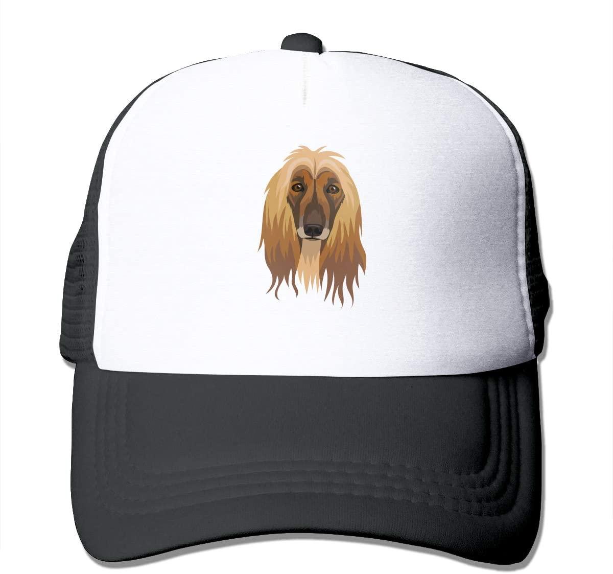 Adult Trucker Hat Afghan Hound Custom Mesh Caps