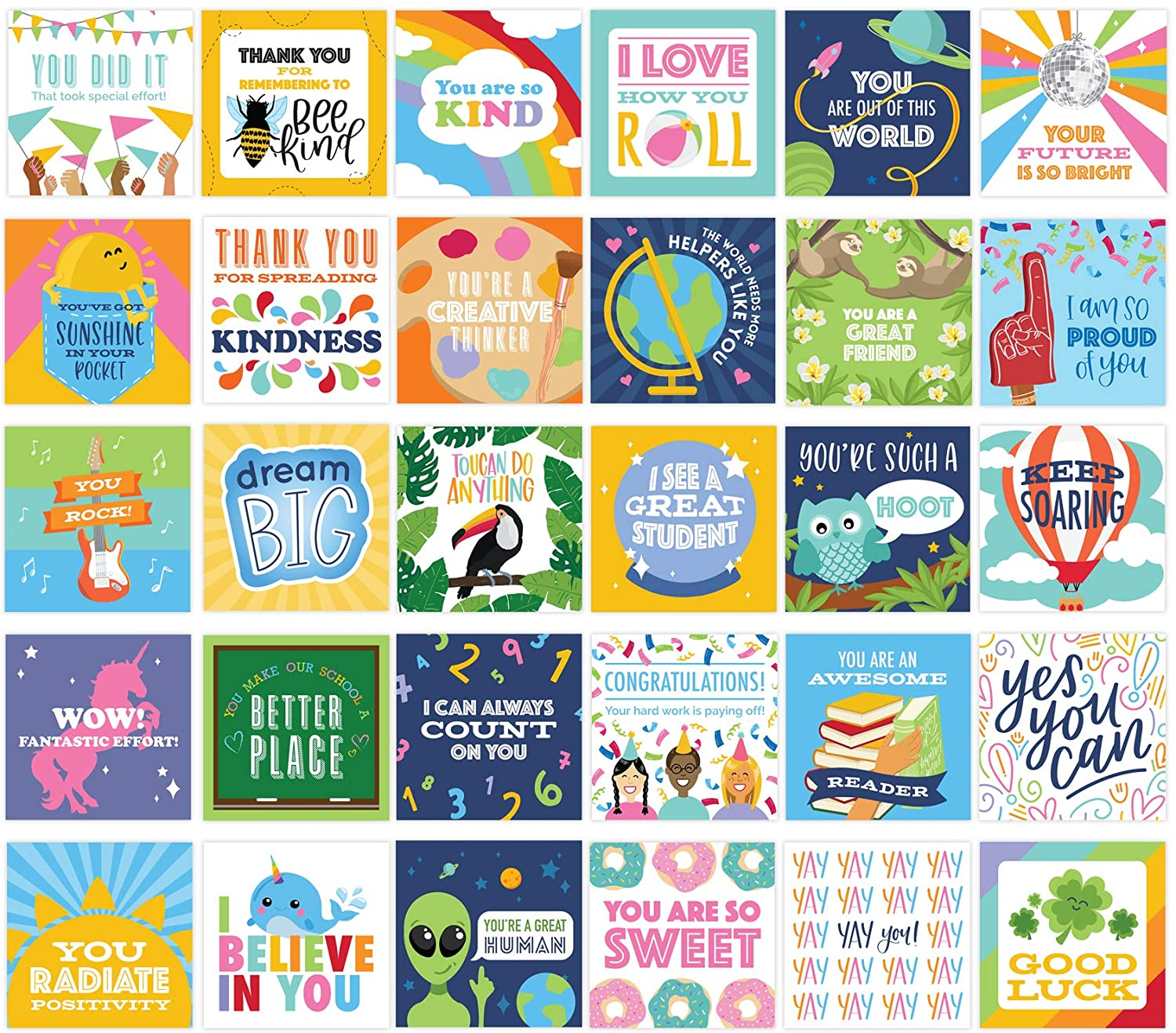 bloom daily planners Student Encouragement Card Deck - Cute Sentimental Quote Cards for Teachers to Give Kids - Set of Thirty 3