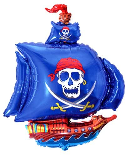 Fantastic Floatables Anti-Gravity Hovering Flying Floating PIRATE SHIP Blue 36 inch Toy Pet Balloon Party Favor