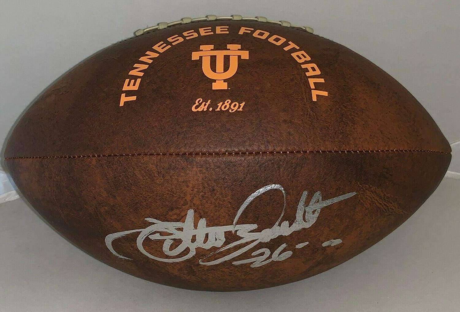 Willie Gault Signed Football - Tennessee Volunteers Full Size - Autographed College Footballs