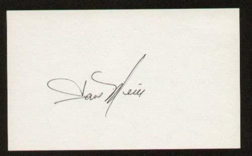 Dave Meier signed autograph 3x5 index card B2702