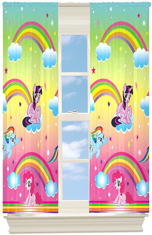 Franco Manufacturing My Little Pony Rainbow Dreams Room Darkening Drapes Kids Window Curtains - 2 Panels 42 X 63 Inch