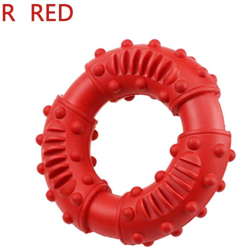 UUME Tough Rubber Aggressive Pet Training Teeth Cleaning Teething Toys Dog Chew Toys Dog Supplies Chewers(red)