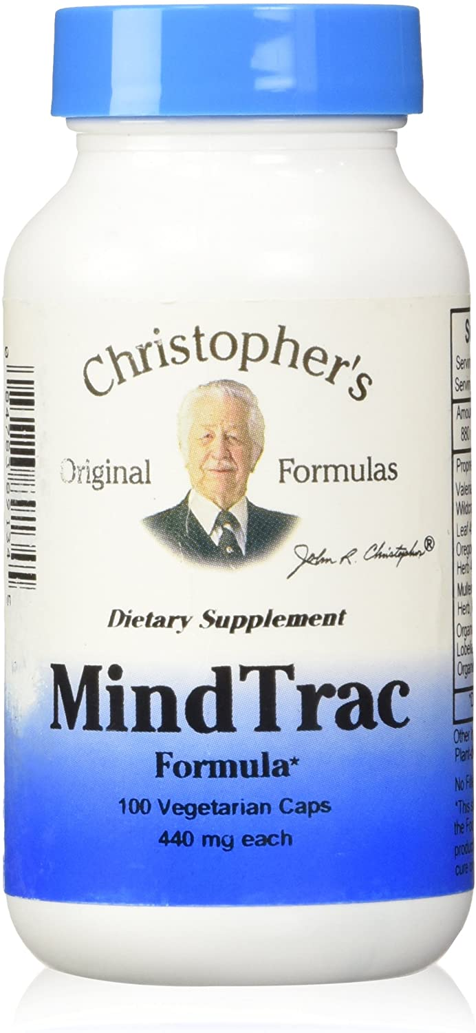 Dr. Christopher's Formulas MindTrac Herbal Capsules, 100 Count