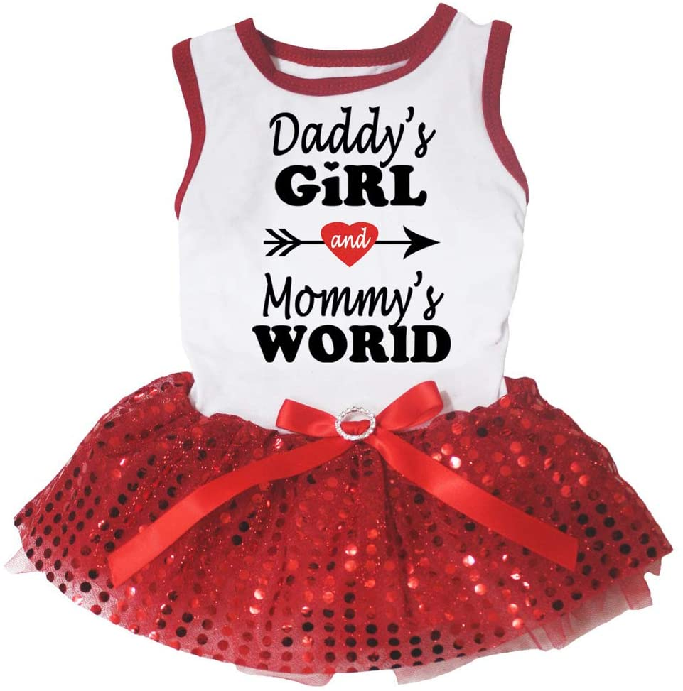 Petitebella Daddy's Girl and Mommy's World Puppy Dog Dress